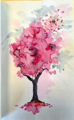 Libro de artista Sara. Encuadernación artesanal, tamaño A5. Ilustración a partir de mancha creativa en acuarela.