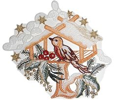 Fensterbild 18x19 cm PLAUENER SPITZE® Weihnachten Vogel Vogelhaus WINTER Schnee in Möbel & Wohnen, Rollos, Gardinen & Vorhänge, Gardinen & Vorhänge | eBay!