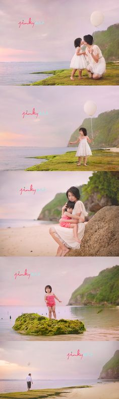 Beautiful Mother Daughter shoot in Bali! Love the pose on the rock alot!