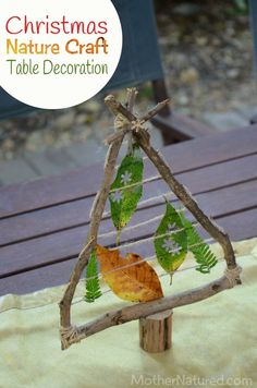 Christmas Nature Craft Table Decoration