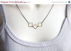 ON SALE Modern Geometric Necklace Minimalist Mixed by KapKaDesign