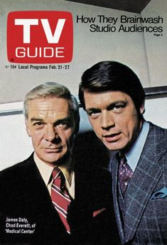 TV Guide. February 21, 1970. James Daly, Chad Everett
