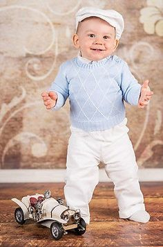 Baby boy #christening #baptism #smart suit outfit sweater wedding blue white 0-18,  View more on the LINK: 	http://www.zeppy.io/product/gb/2/151643100410/