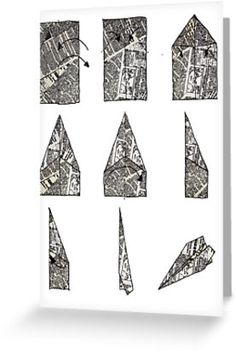 paper aeroplane..... instructions by danielle quinn | RedBubble Greeting Cards