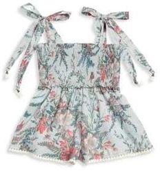 fcf2ba484dd Kids Girl s Bayou Cotton Shirred Playsuit  print floral Squareneck Kids  Girls