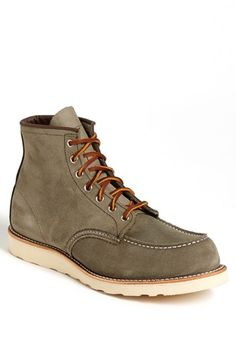 Green Red Wing Moc Toe Boot