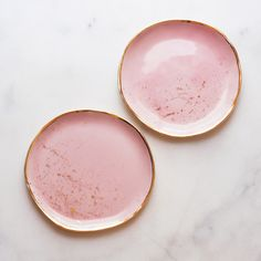 Dessert Plates in Rose with Gold Splatter (set of two) – Suite One Studio