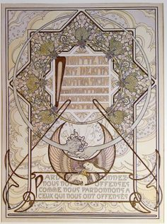 """hideback: """" Alphonse Mucha (Czech, 1860-1939) Le Pater, 1899 Le Pater is Mucha's illustrated edition of the Lord's Prayer. 510 copies were made. More Mucha """""""