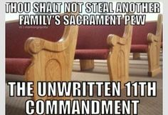 Haha In the Mormon church many dirty looks are given when someone does this:P Lds Memes, Lds Quotes, Funny Memes, Hilarious, Qoutes, Funny Quotes, Church Memes, Church Humor, Catholic Memes