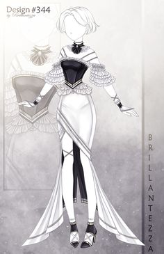 Clothing Sketches, Dress Sketches, Drawing Anime Clothes, Dress Drawing, Cosplay Outfits, Anime Outfits, Anime Girl Dress, Hero Costumes, Fashion Design Drawings