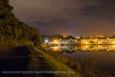 Pembroke millpond at night 31-8-16