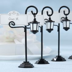 Free Shipping Street Lamp Placecard Holders Wedding Decoration Party Supplies (Set of 4) $9.99