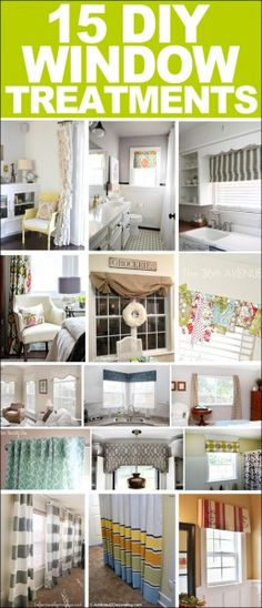 Best DIY Projects: 15 DIY window treatments - Home Decorating Diy Ideas Window Coverings, Window Treatments, Rideaux Design, Diy Curtains, Decoration Design, Home Projects, Diy Furniture, Plywood Furniture, Modern Furniture