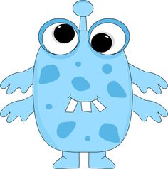 free cute monster clip art   Blue Monster Clip Art Image - blue monster with big funny eyes, buck ...