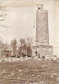 Wilder Monument construction. Fort Oglethorpe, Ga.   1899
