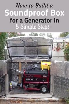 How to Build a Soundproof Box for a Generator in 8 Simple Steps. How to Build a Soundproof Box for a Generator in 8 Simple Steps. Diy Generator, Emergency Generator, Portable Generator, Power Generator, Generator For Home, Generator Transfer Switch, Honda Generator, Soundproof Box, Tallit
