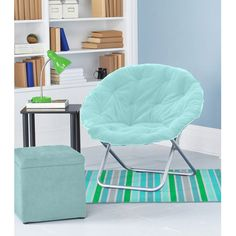 Lovely Mainstays Faux Fur Saucer Chair, Multiple Colors
