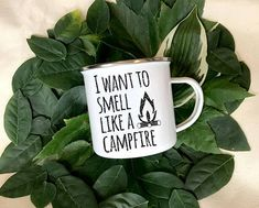 I Want To Smell Like A Campfire Enamel Camper Mug **Stainless steel base with enamel coating. inches in height. These mugs are unique and made to last. Please expect small areas of minor exposed steel. Camping Cot, Best Camping Gear, Backpacking Tips, Camping Hacks, Outdoor Camping, Camping Ideas, Camping Hammock, Camping Guide, Camping Trailers