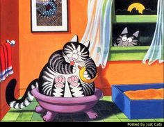 Courtesy of Just Cats  Artist Bernard Kilban