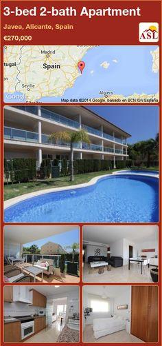 3-bed 2-bath Apartment in Javea, Alicante, Spain ►€270,000 #PropertyForSaleInSpain