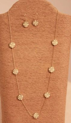 Gold and Ivory Necklace and Earring Set from Southern Jewelry Auctions on Facebook