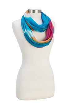 Great colors for Spring! Howard's Multi Rainbow Infinity Scarf