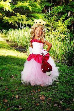 2PC Princess peach corset top TUTU Costume by RoseGardenBridal