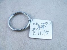 mother's day gift: child's artwork on a keychain  | cool mom picks.  Must have picture keychain & I love the scarves
