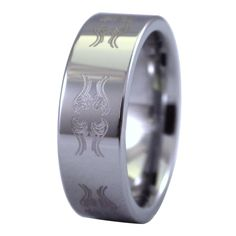 Sale! only $16.99, take advantage of this great deal before they are sold out. A heavy biker ring forged from tungsten carbide. This men's tungsten ring has engraved Tribal scrollwork of a motorcycle. The motorcycle outline includes the seat, gas tank, and headlight. The engraving is then mirrored twice to make the unique Tribal pattern. These carbide ring bands can be worn as a single carbide ring or as a wedding band. Tungsten Jewelry, Tungsten Mens Rings, Tungsten Carbide, Dragon Ring, Biker Rings, Stainless Steel Jewelry, Band Rings, Fashion Rings, Rings For Men
