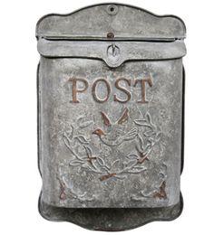 Boîte aux lettres en métal gravé motif oiseau Post Chehoma