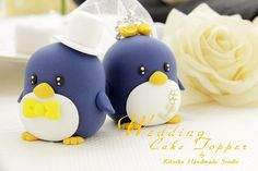 Wedding Cake Topper-love Penguins with Real Touch Rose base by charles fukuyama, via Flickr