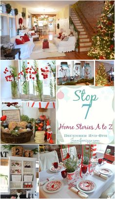 Welcome to my Christmas Home Tour! I am participating in Jennifer Rizzo's Holiday Housewalk this year and I'm stop number 7 on the tour. If you are stopping by from The Handmade Home, welcome!  If y