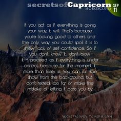 Capricorn Horoscope. The best horoscopes on the web:  Visit iFate.com Astrology today!
