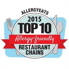 Top 10 Allergy-Friendly Restaurant Chains List 2015