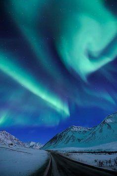 Purple Majesty ~ Garden Of Ice - Aurora Glowing Over Alaska by Ben Hattenbach