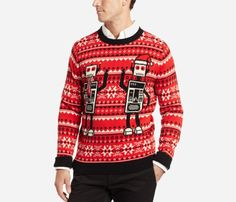 Can your man pull off this robot ugly Christmas sweater?