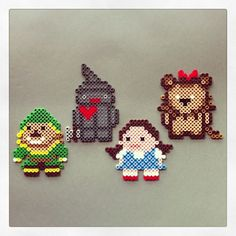 The Wizard of Oz characters perler beads by bigbharmon