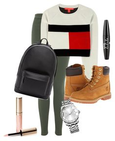 """""""Schoolin'"""" by amuramasri on Polyvore featuring mode, Miss Selfridge, Tommy Hilfiger, Timberland, PB 0110, By Terry, NYX en Calvin Klein"""