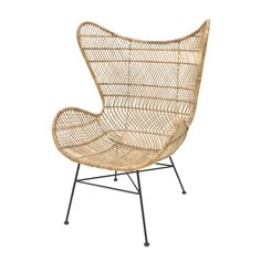 This beautiful HK-living Rattan Egg chair will look perfect in your interior! The bohemian Egg chair is made of rattan with metal base and is ideal for lounging all day long. Wooden Dining Room Chairs, Scandinavian Dining Chairs, Metal Chairs, Cool Chairs, Living Room Chairs, Pink Desk Chair, Diy Chair, Pink Chairs, White Chairs