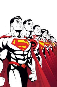 #Superman #Fan #Art. Superman. Multiplicity, Part One. Vol.4 #14 Cover) By: Patrick Gleason & Mick Gray & John Kalisz. ÅWESOMENESS!!!™ ÅÅÅ+