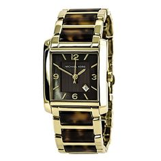 Michael Kors Gold-tone and Tortoise Shell Acrylic Bracelet Ladies Watch MK4242