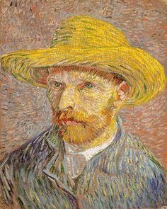 Van Gogh, Self-Portrait with a Straw Hat (1887) - Met - NY