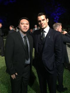 Henry Cavill with Anthony Ong atRoyal Marines 350th Birthday Party held at The Convent, 10/25/14.  Pic via Anthony Ong