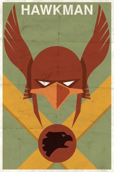 Hawkman vintage-style DC Comics poster by Michael Myers