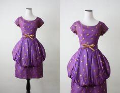 1950s dress  50s chiffon polka dot dress by 1919vintage on Etsy