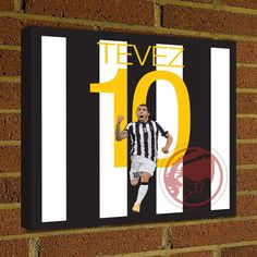 Square Canvas Wrap Soccer Art Print Carlos Tevez 10 Canvas Print - Juventus - Argentina Soccer Poster wall decor, home decor, juve print #soccer #wallart #decor #canvas #art #poster #graphicdesign #soccerart #football #futbol #etsy #g17 #graphics17 #etsy