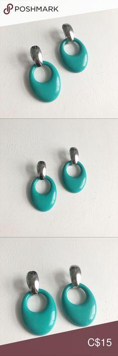 Spotted while shopping on Poshmark: Teal oval earrings! Cross Earrings, Black Earrings, Round Earrings, Gold Hoop Earrings, Statement Earrings, Heart Shaped Earrings, Moonstone Earrings, Beaded Purses, Sterling Silver Hoops