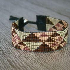 Bracelet manchette miyuki modele frise