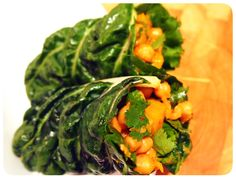 Thai Coconutty Chickpea Wraps (Vegan)