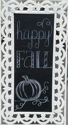 Fall chalkboard art, autumn, pumpkin